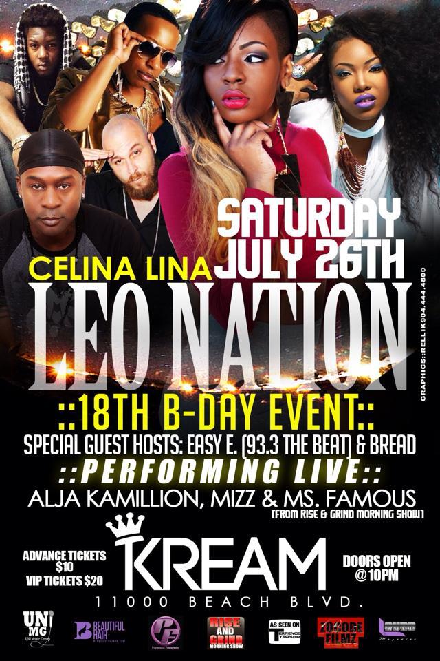 """CELINA LINA """"LEO NATION"""" BIRTHDAY EVENT"""